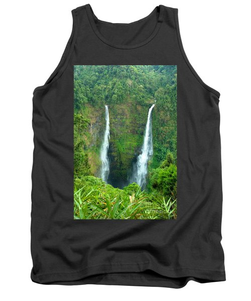 Tank Top featuring the photograph waterfall in Laos by Luciano Mortula