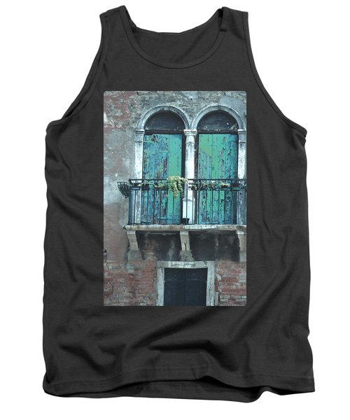 Weathered Venice Porch Tank Top by Tom Wurl