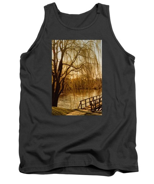 Weeping Willow And Bridge Tank Top by Barbara Middleton