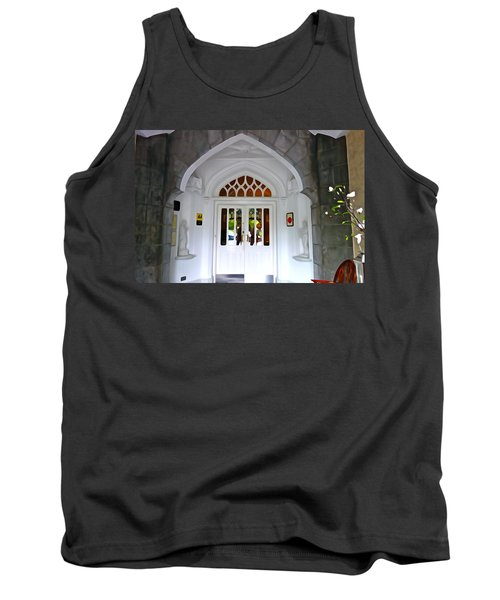 Tank Top featuring the photograph Welcome To The Manor by Charlie and Norma Brock