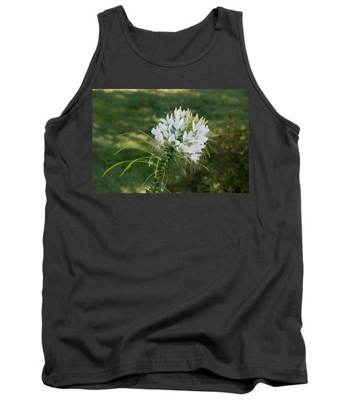 White Cleome Tank Top by Michael Bessler