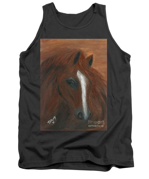 Tank Top featuring the painting Wildfire by Barbie Batson