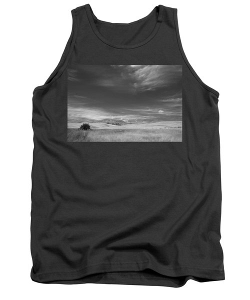 Tank Top featuring the photograph Windmills In The Distant Hills by Kathleen Grace