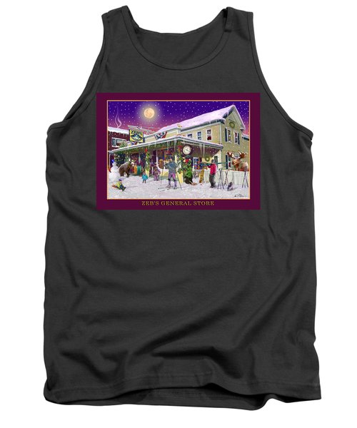 Winter At Zebs General Store In North Conway Nh Tank Top