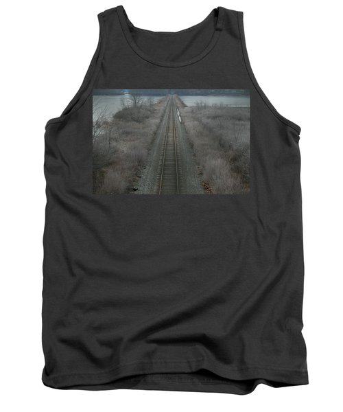 Winter Tracks  Tank Top by Neal Eslinger