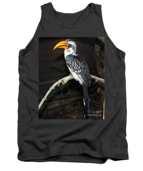 Tank Top featuring the photograph Yellow-billed Hornbill by Kathy  White