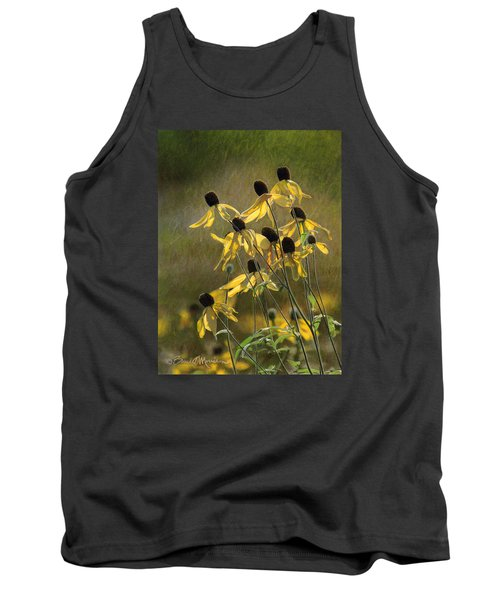 Yellow Coneflowers Tank Top by Bruce Morrison