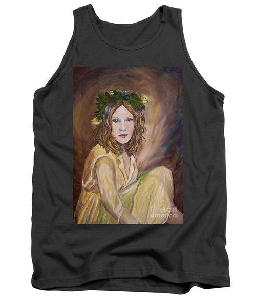 Tank Top featuring the painting Yellow Rose by Julie Brugh Riffey