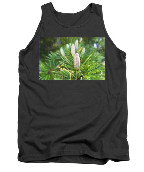 Young Pine Cones Tank Top by Anne Mott