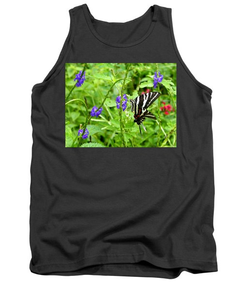 Zebra Swallowtail On Blue Porterweed Tank Top