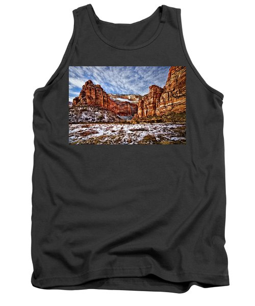 Zion Canyon In Utah Tank Top