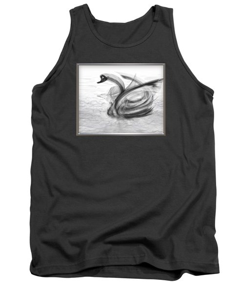 'a Fabric-ated Swan Melody ' Tank Top