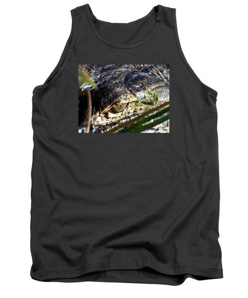 Tank Top featuring the photograph  Alligator Eye  by Chris Mercer