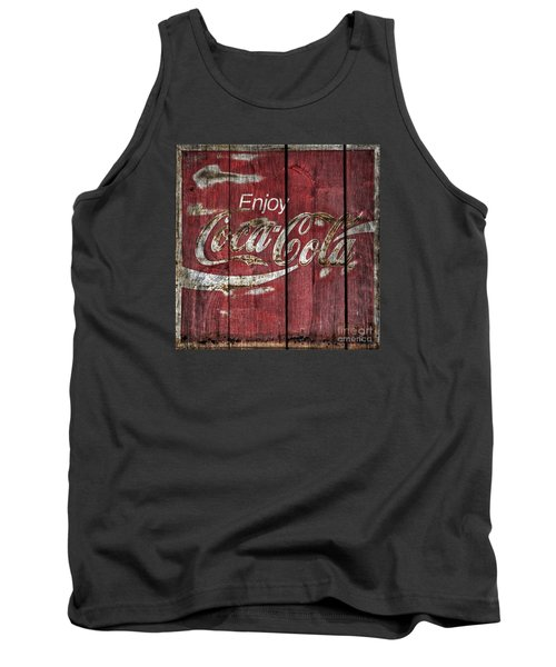 Coca Cola Sign Barn Wood Tank Top