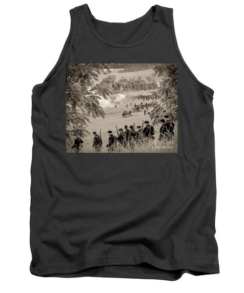 Gettysburg Union Artillery And Infantry 7465s Tank Top