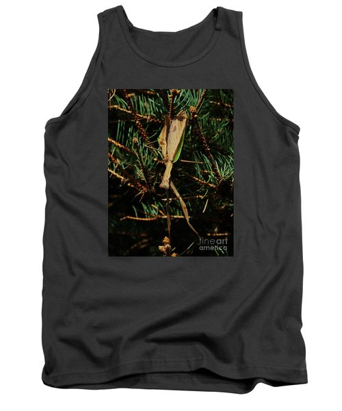 Tank Top featuring the photograph  Hanging Mantis  by J L Zarek