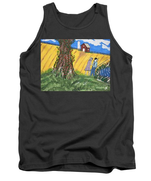 Tank Top featuring the painting  I Got A Big One. by Jeffrey Koss