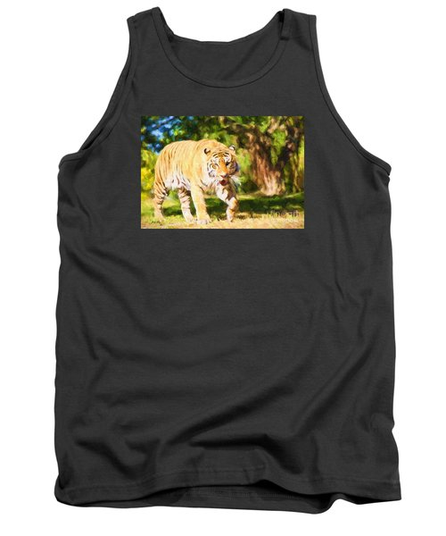 Tank Top featuring the painting  On The Prowl by Judy Kay
