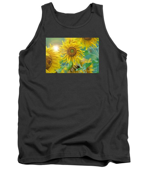 Tank Top featuring the photograph  Sunflower by Lila Fisher-Wenzel