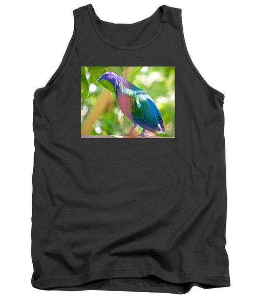 Tank Top featuring the photograph  The Pose by Judy Kay