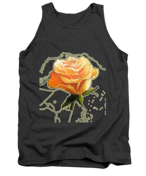 Yellow Roses Tank Top by Vesna Martinjak