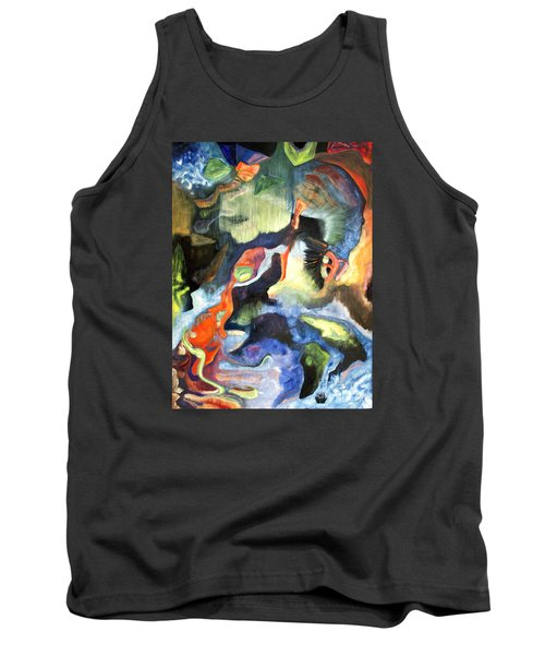 Tank Top featuring the painting 01313 Big Bang by AnneKarin Glass