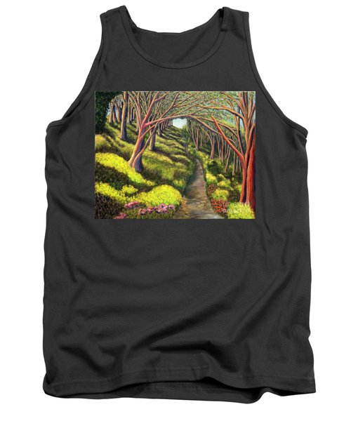 Tank Top featuring the painting  01350  Spring  by AnneKarin Glass