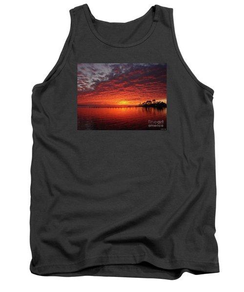 0205 Awesome Sunset Colors On Santa Rosa Sound Tank Top by Jeff at JSJ Photography