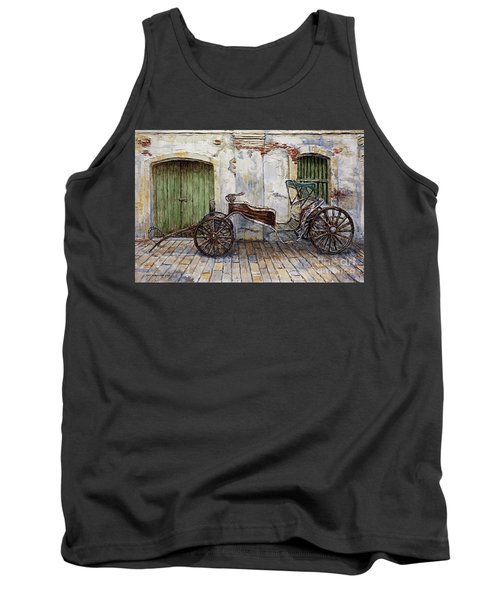 A Carriage On Crisologo Street 2 Tank Top by Joey Agbayani