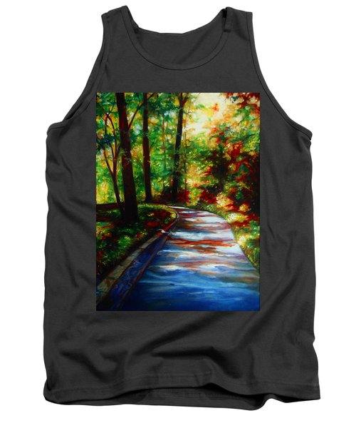 Tank Top featuring the painting A Morning Walk by Emery Franklin