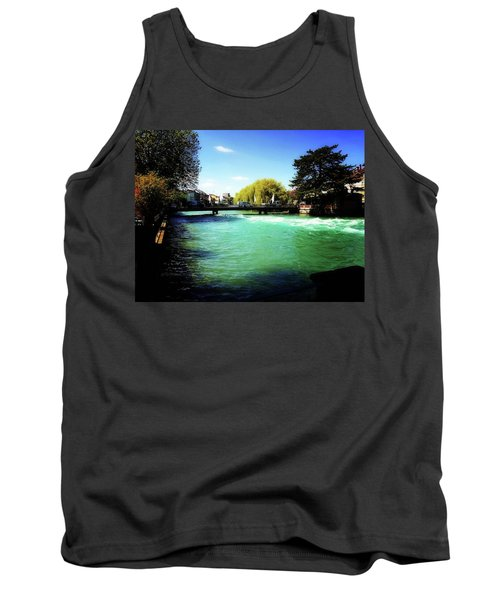 Tank Top featuring the photograph Aare River by Mimulux patricia no No