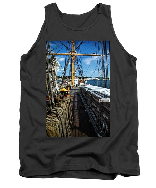 Tank Top featuring the photograph Aboard The Eagle by Karol Livote