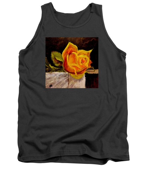 Tank Top featuring the painting Alone.. by Cristina Mihailescu