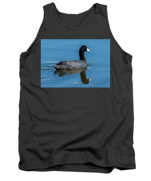 American Coot Swiming Tank Top by Edward Peterson