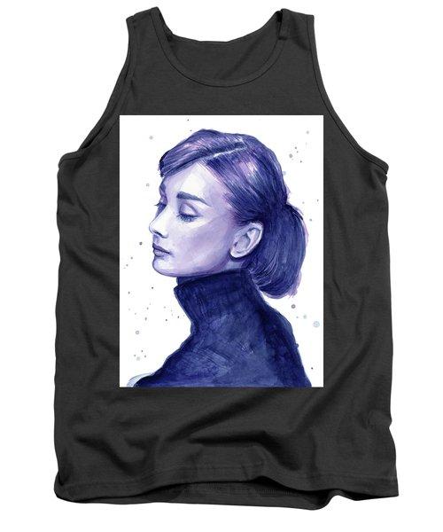 Audrey Hepburn Portrait Tank Top by Olga Shvartsur