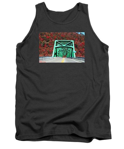 Tank Top featuring the photograph Autumn Bridge by Michael Rucker