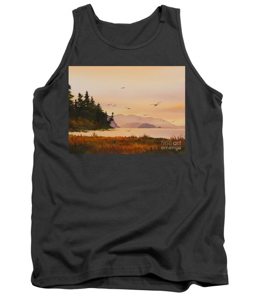 Tank Top featuring the painting Autumn Shore by James Williamson