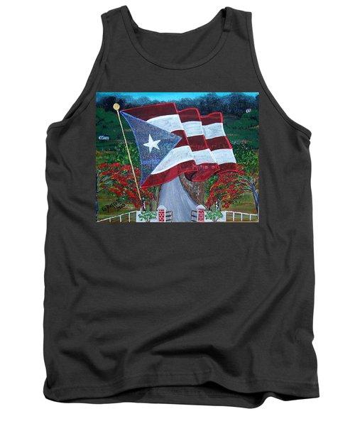 Bandera De Puerto Rico Tank Top