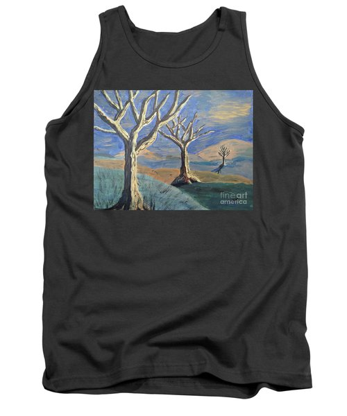 Bare Trees Tank Top by Judy Via-Wolff