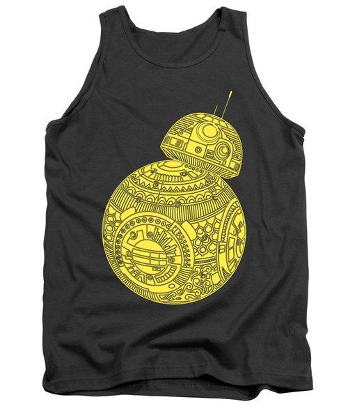 Bb8 Droid - Star Wars Art, Yellow Tank Top