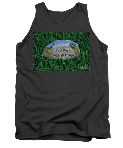 Tank Top featuring the photograph 1- Be At Peace by Joseph Keane