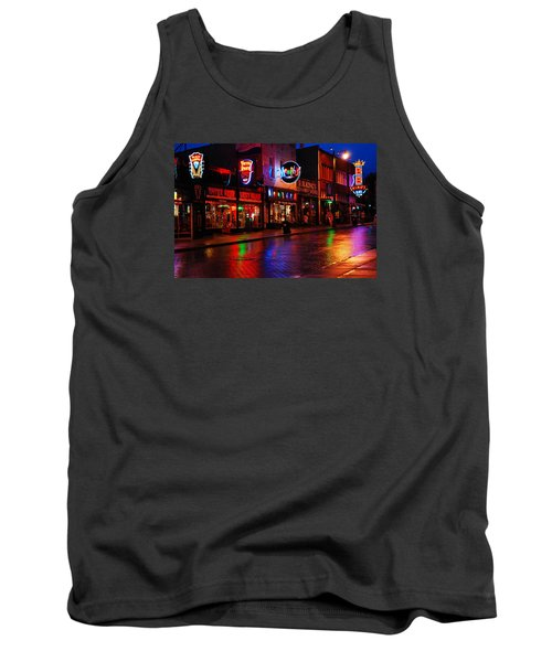 Tank Top featuring the photograph Beale Street Memphis by James Kirkikis