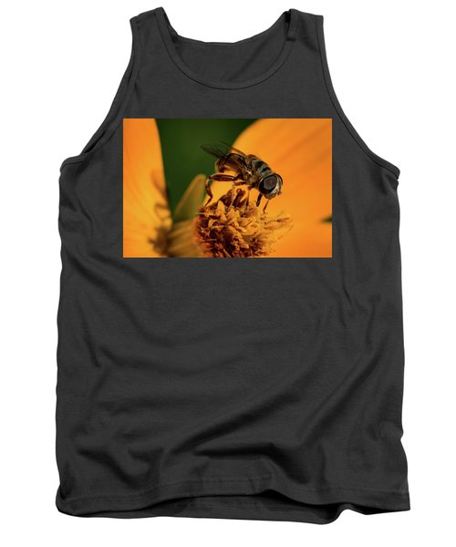 Tank Top featuring the photograph Bee On Flower by Jay Stockhaus