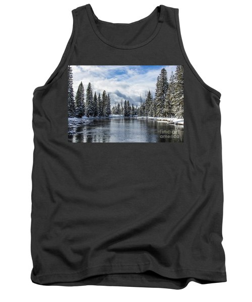 Big Springs In Winter Idaho Journey Landscape Photography By Kaylyn Franks Tank Top