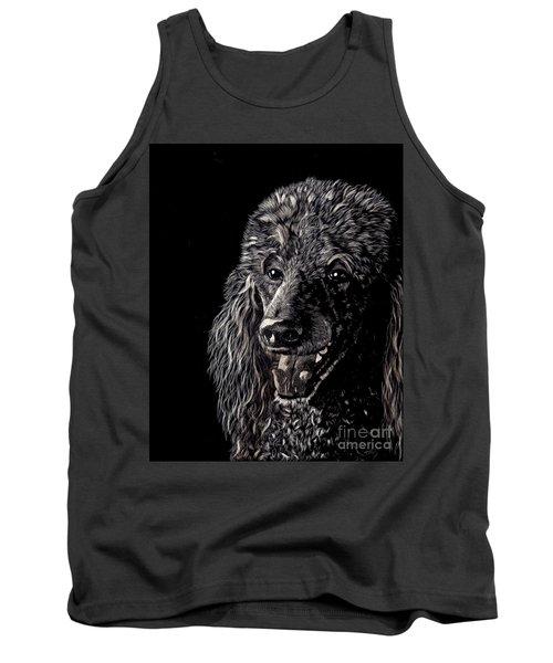 Black Standard Poodle Tank Top