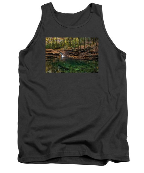 Tank Top featuring the photograph Blue Ridge Cascade by Serge Skiba