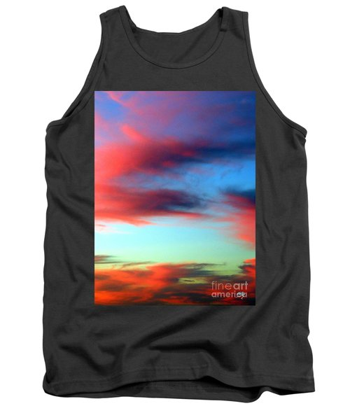 Tank Top featuring the photograph Blushed Sky by Linda Hollis