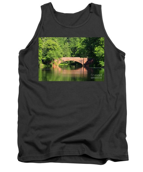 Bridge Reflection In The Spring Tank Top