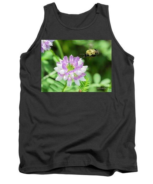 Bumble Bee Pollinating A Flower Tank Top