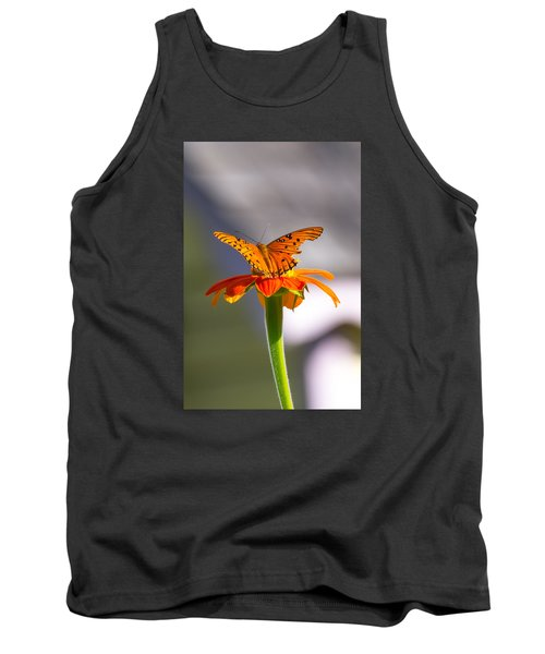 Butterfly On Flower Tank Top